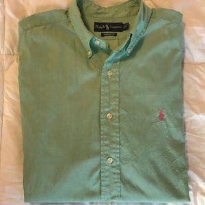 Green Polo Button Down